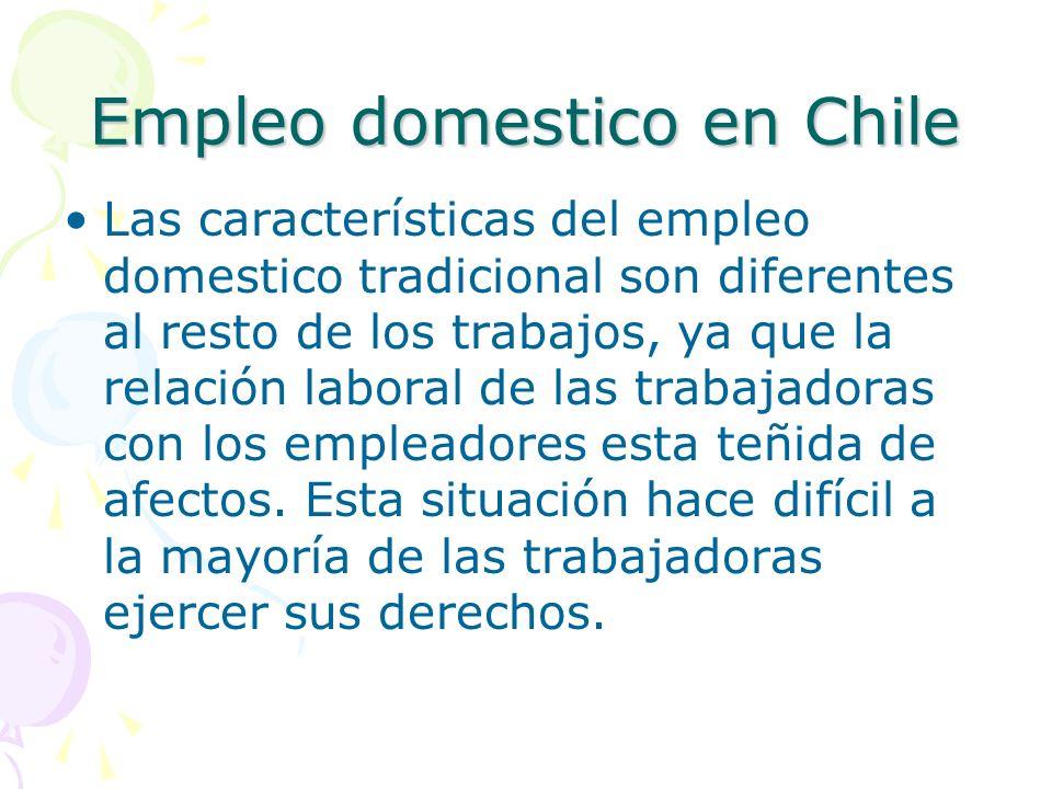 Empleo domestico en Chile