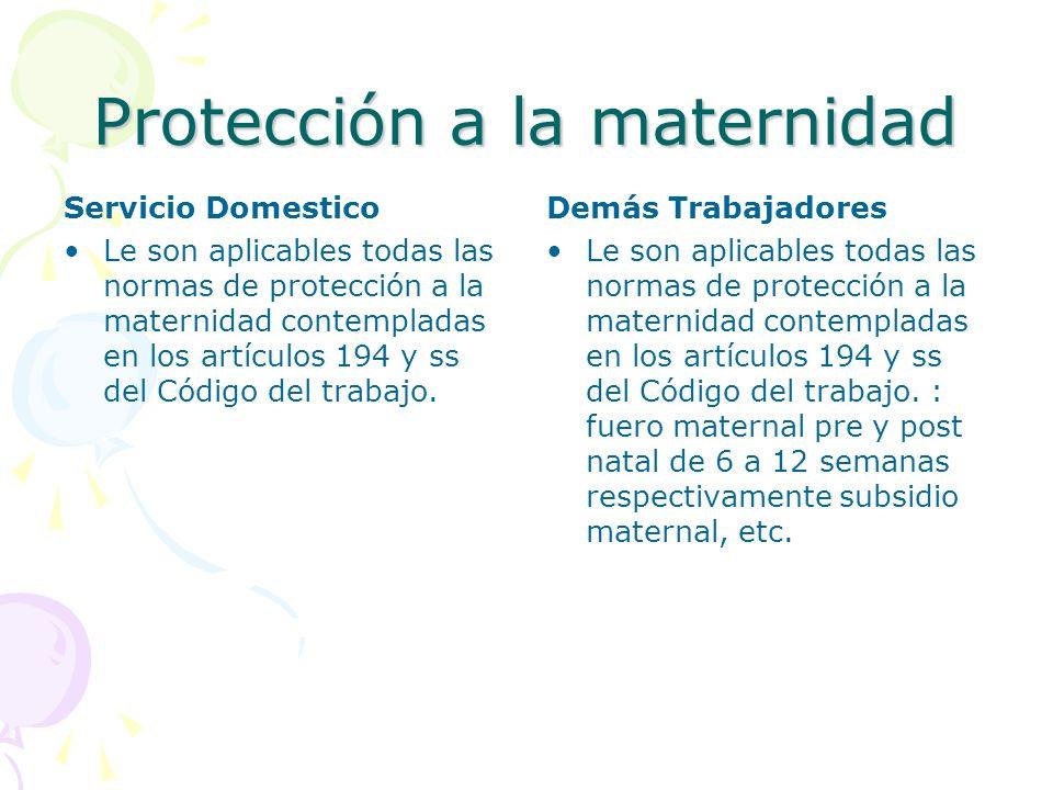 Protección a la maternidad