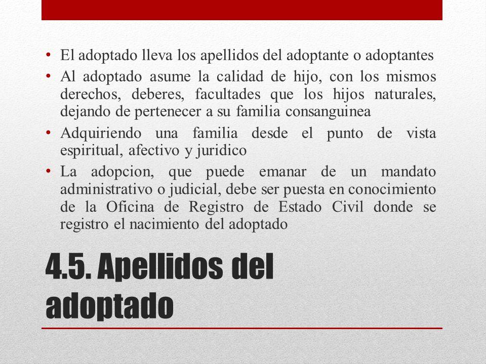 4.5. Apellidos del adoptado