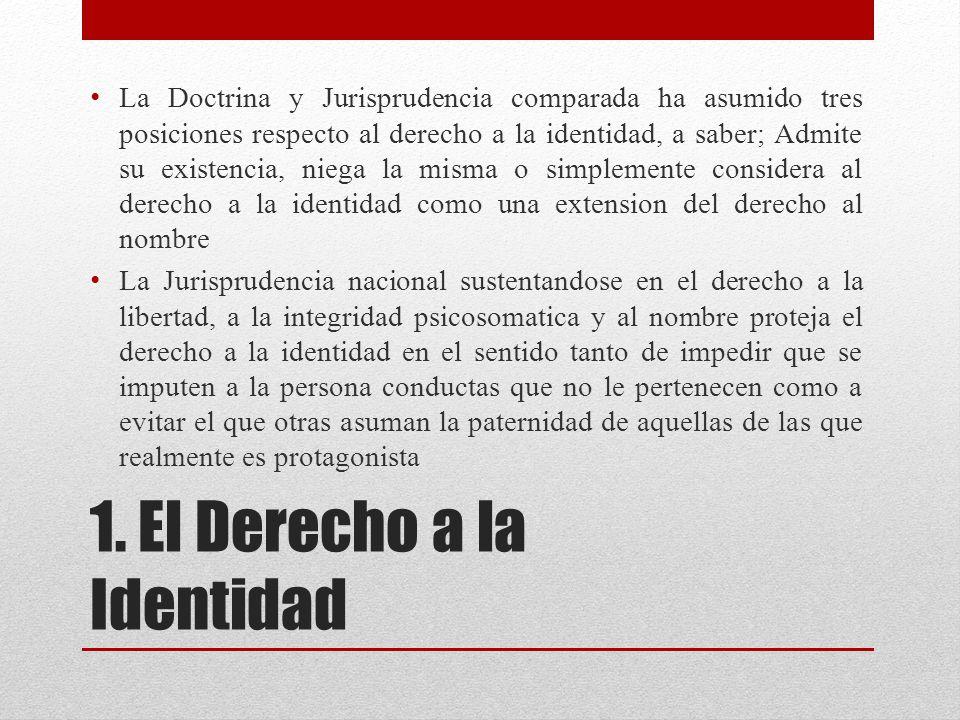 1. El Derecho a la Identidad