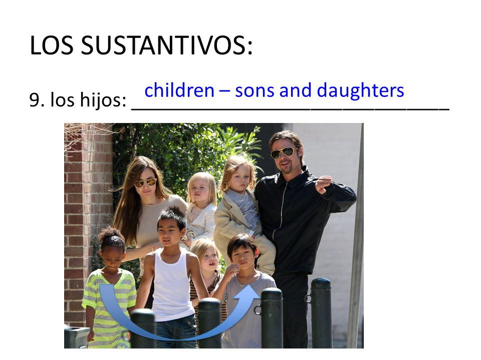 LOS SUSTANTIVOS: children – sons and daughters