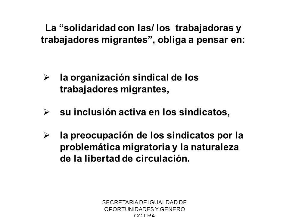 SECRETARIA DE IGUALDAD DE OPORTUNIDADES Y GENERO CGT RA