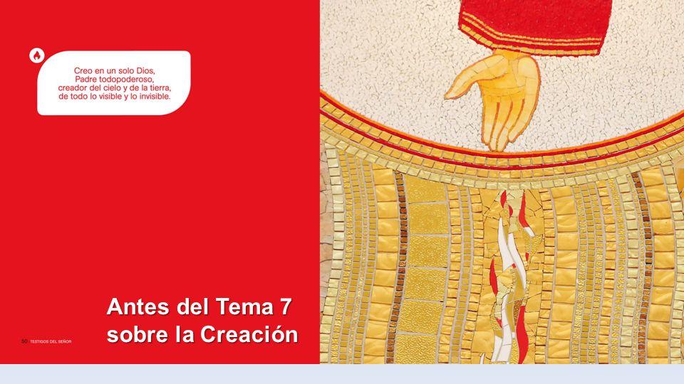 Antes del Tema 7 sobre la Creación