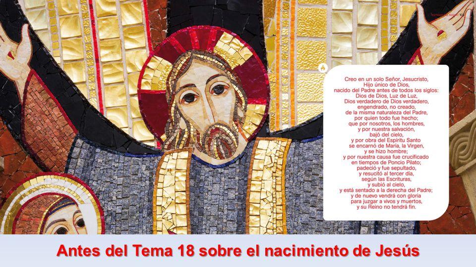 Antes del Tema 18 sobre el nacimiento de Jesús