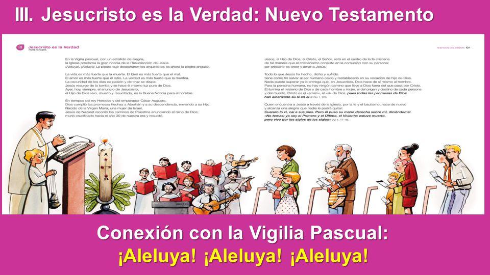Conexión con la Vigilia Pascual: ¡Aleluya! ¡Aleluya! ¡Aleluya!