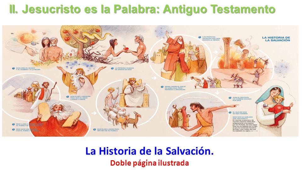 La Historia de la Salvación. Doble página ilustrada