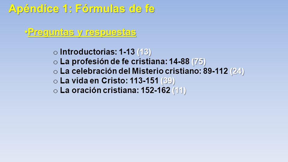 Apéndice 1: Fórmulas de fe