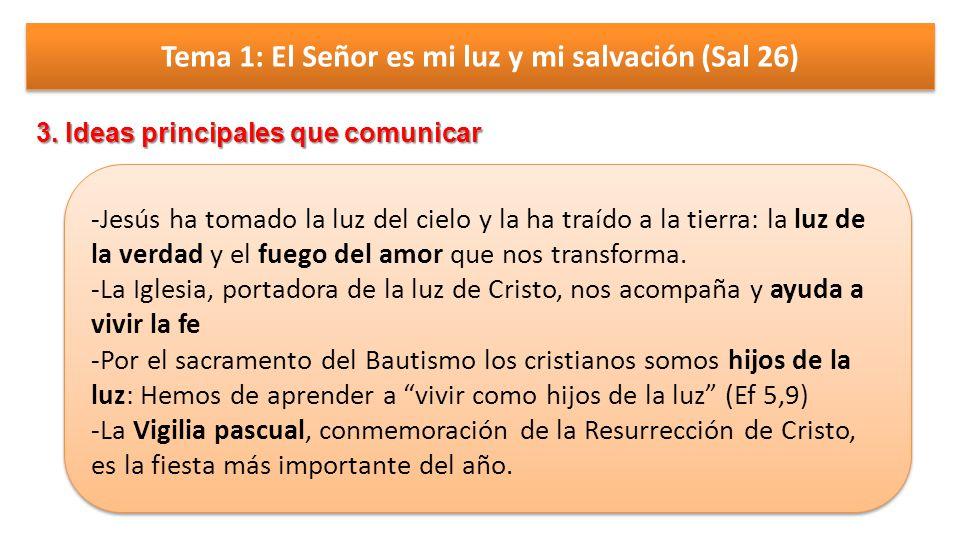 Tema 1: El Señor es mi luz y mi salvación (Sal 26)