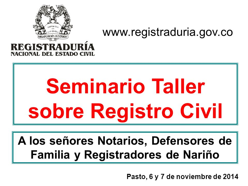 Seminario Taller sobre Registro Civil