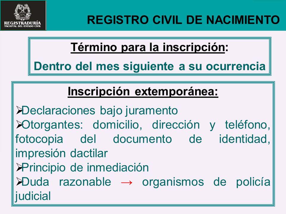 REGISTRO CIVIL DE NACIMIENTO
