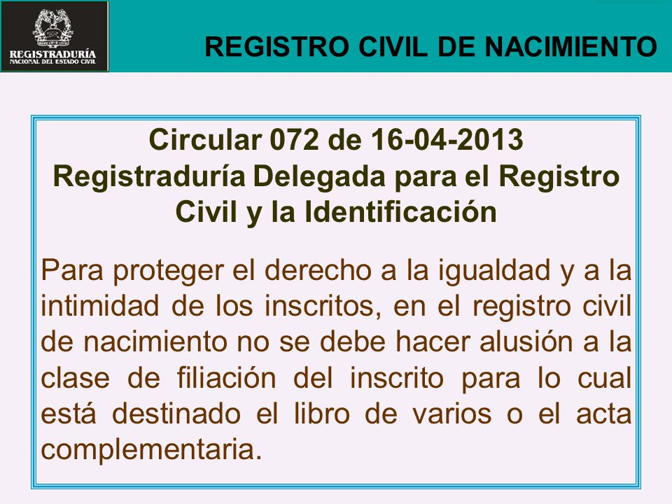 Registraduría Delegada para el Registro Civil y la Identificación