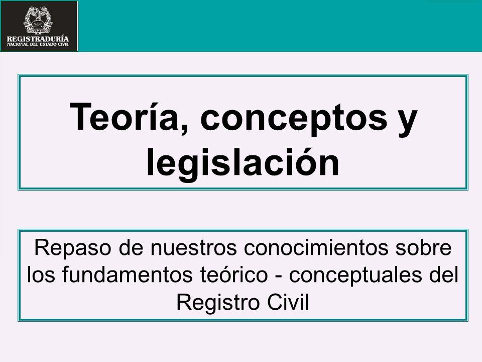 Teoría, conceptos y legislación