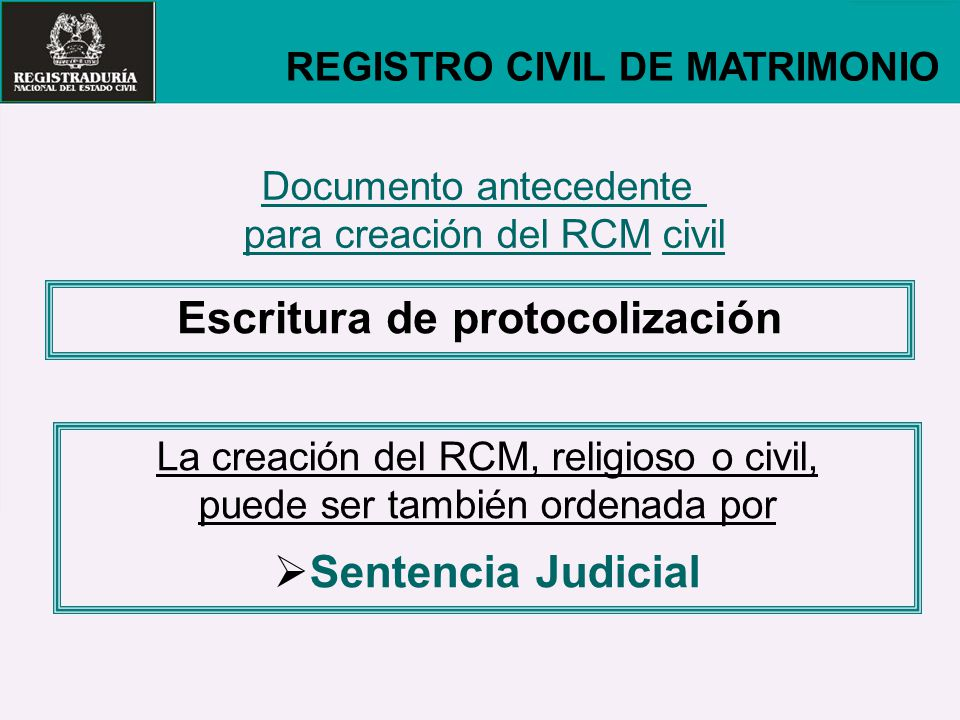 Matrimonio Catolico Registro Civil : Seminario taller sobre registro civil ppt descargar