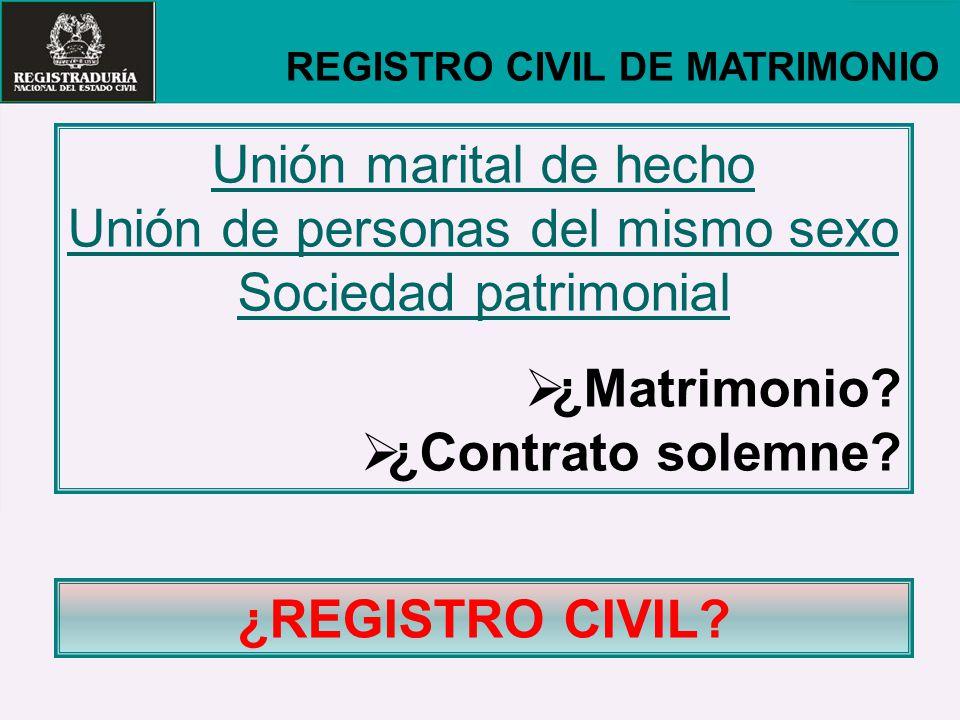 Unión de personas del mismo sexo
