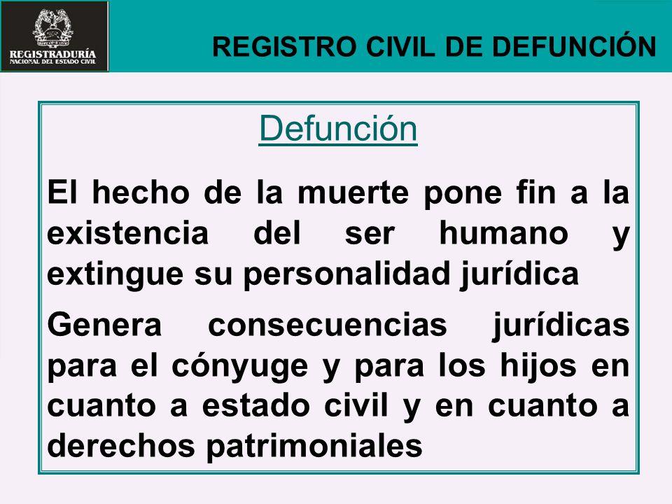 REGISTRO CIVIL DE DEFUNCIÓN