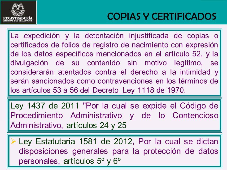 COPIAS Y CERTIFICADOS