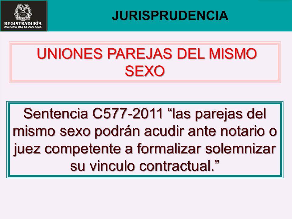 UNIONES PAREJAS DEL MISMO SEXO