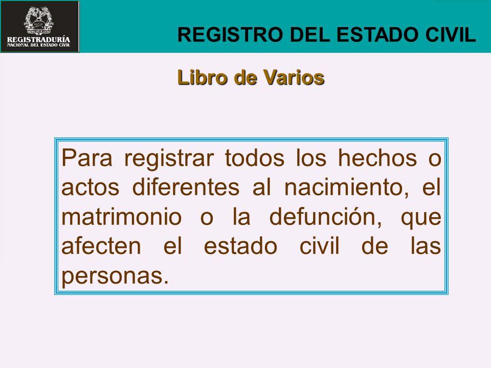 REGISTRO DEL ESTADO CIVIL