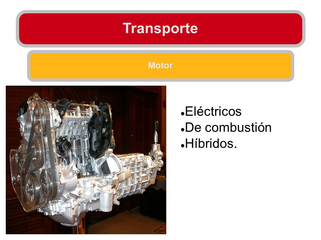 Transporte Motor Eléctricos De combustión Híbridos.