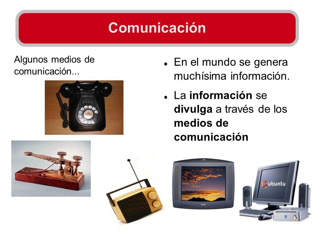 Comunicación En el mundo se genera muchísima información.