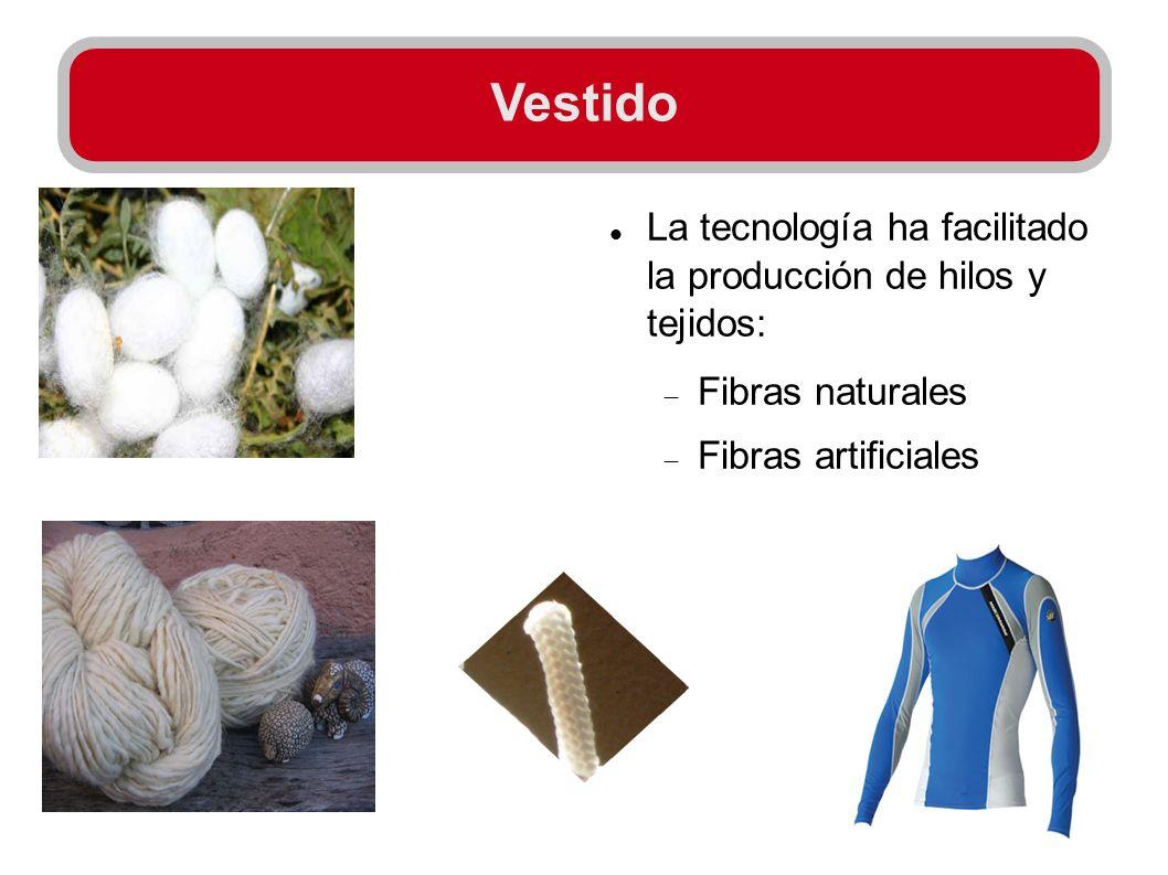 Vestido La tecnología ha facilitado la producción de hilos y tejidos: