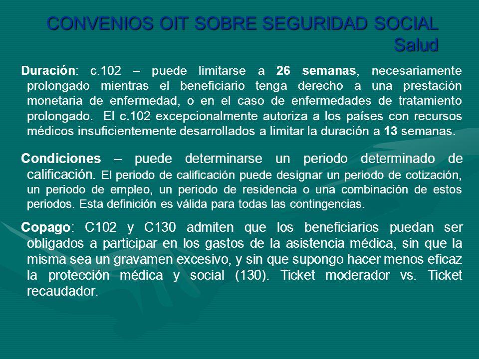 CONVENIOS OIT SOBRE SEGURIDAD SOCIAL Salud