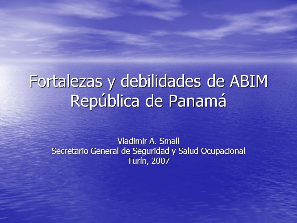 Fortalezas y debilidades de ABIM República de Panamá