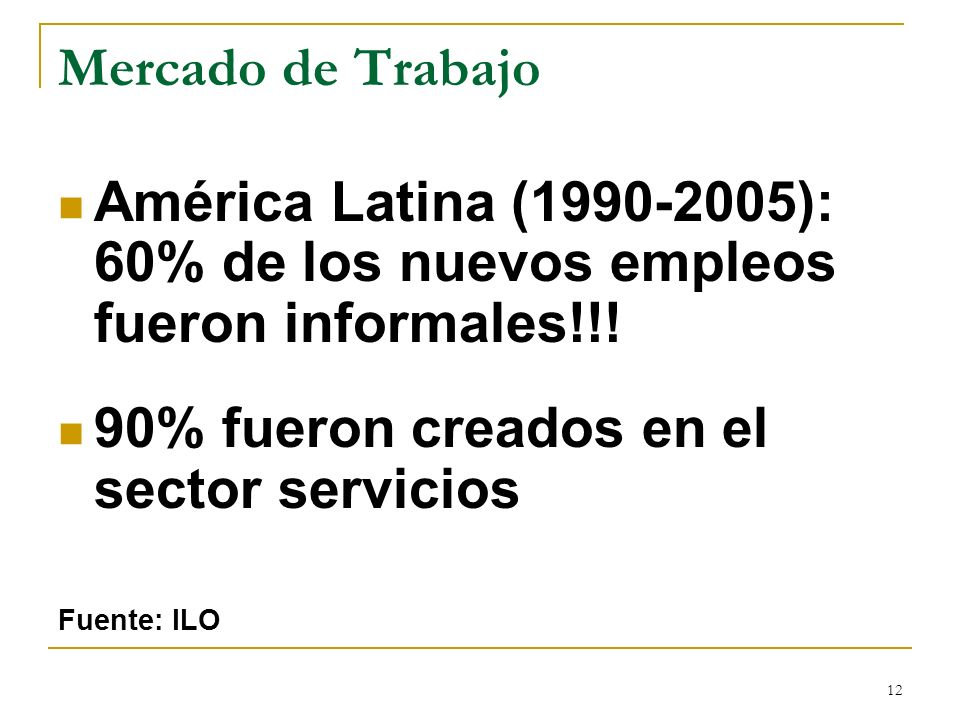 90% fueron creados en el sector servicios