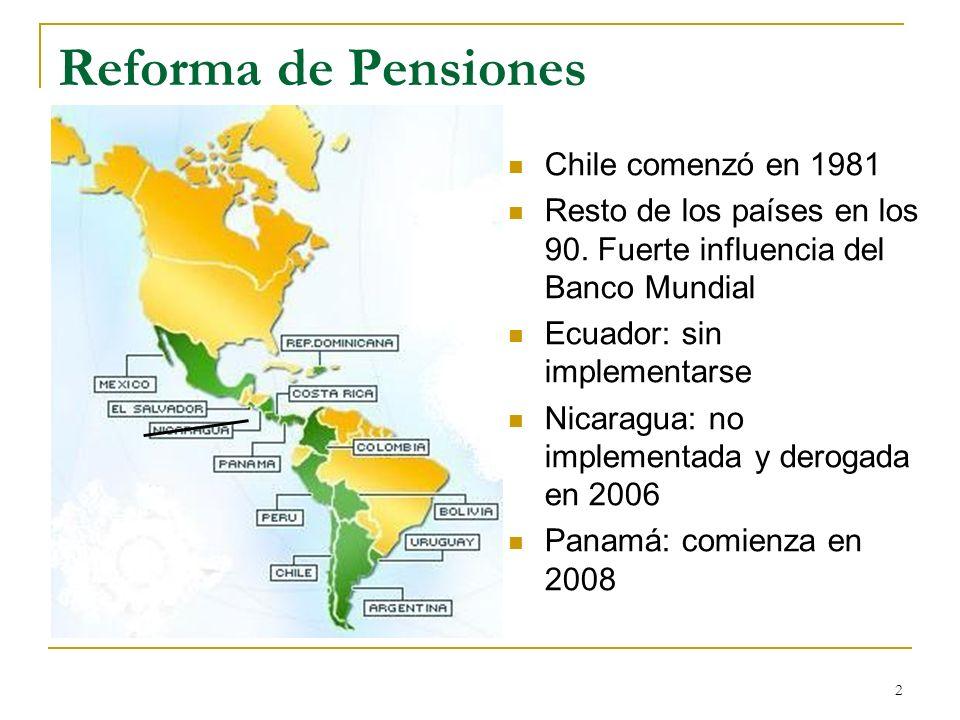 Reforma de Pensiones Chile comenzó en 1981