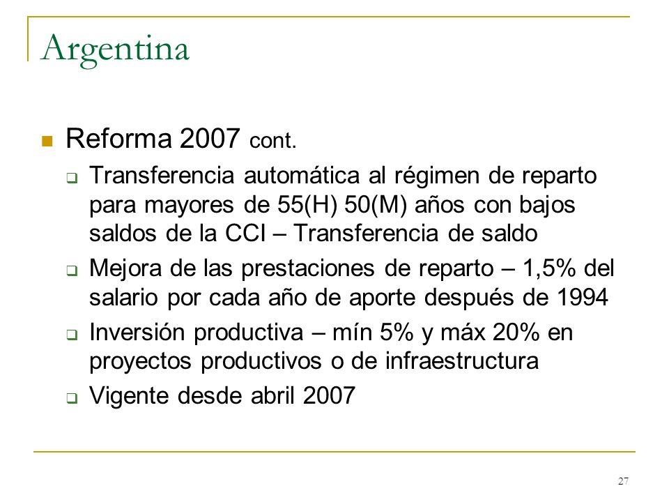 Argentina Reforma 2007 cont.