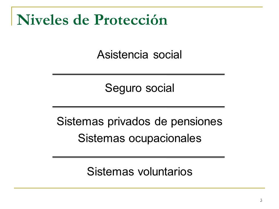 Niveles de Protección Asistencia social Seguro social