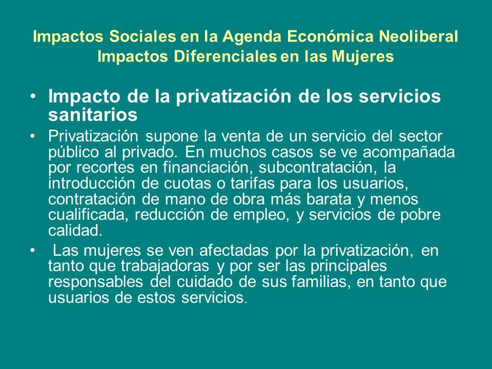 Impacto de la privatización de los servicios sanitarios