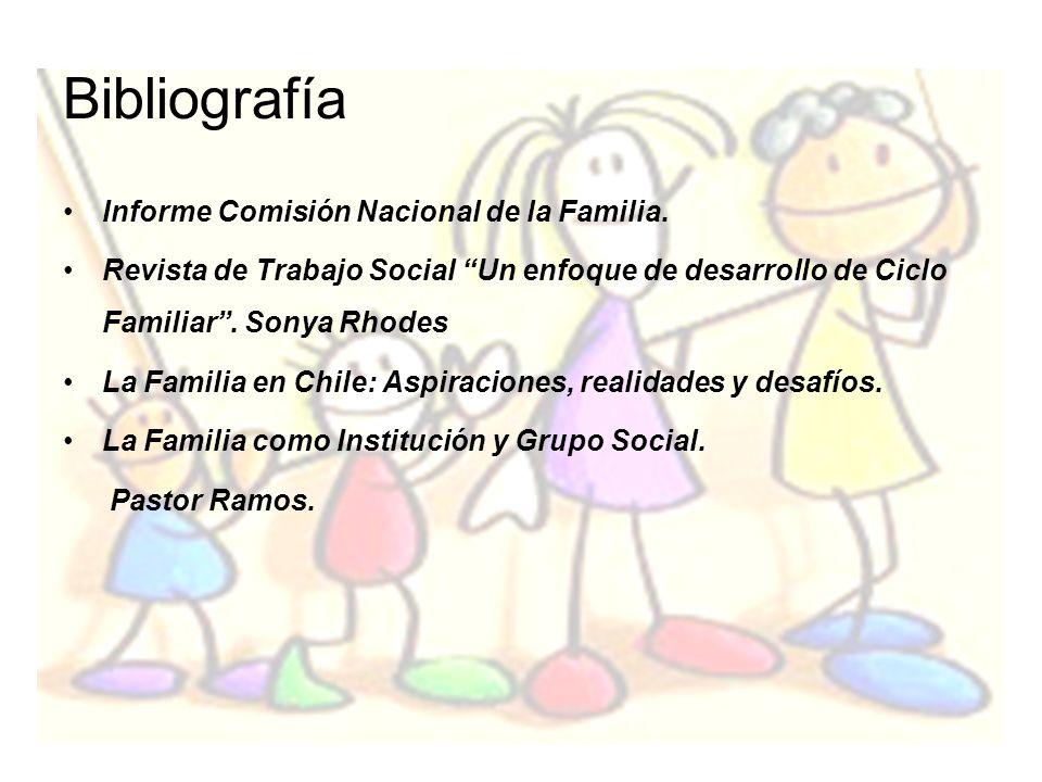 Bibliografía Informe Comisión Nacional de la Familia.