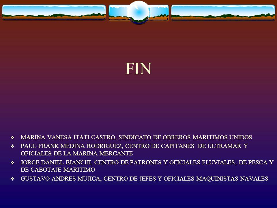 FIN MARINA VANESA ITATI CASTRO, SINDICATO DE OBREROS MARITIMOS UNIDOS