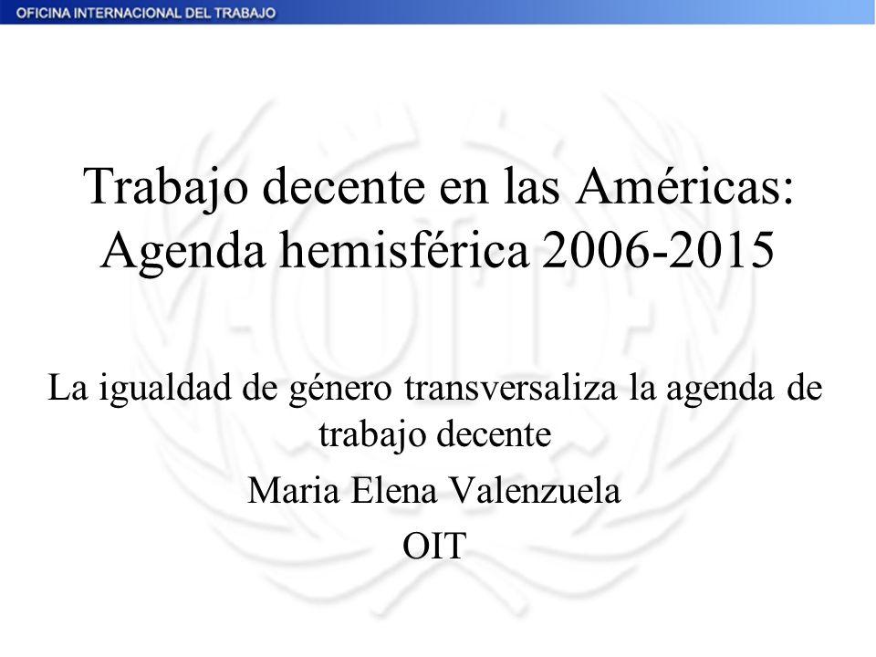 Trabajo decente en las Américas: Agenda hemisférica 2006-2015