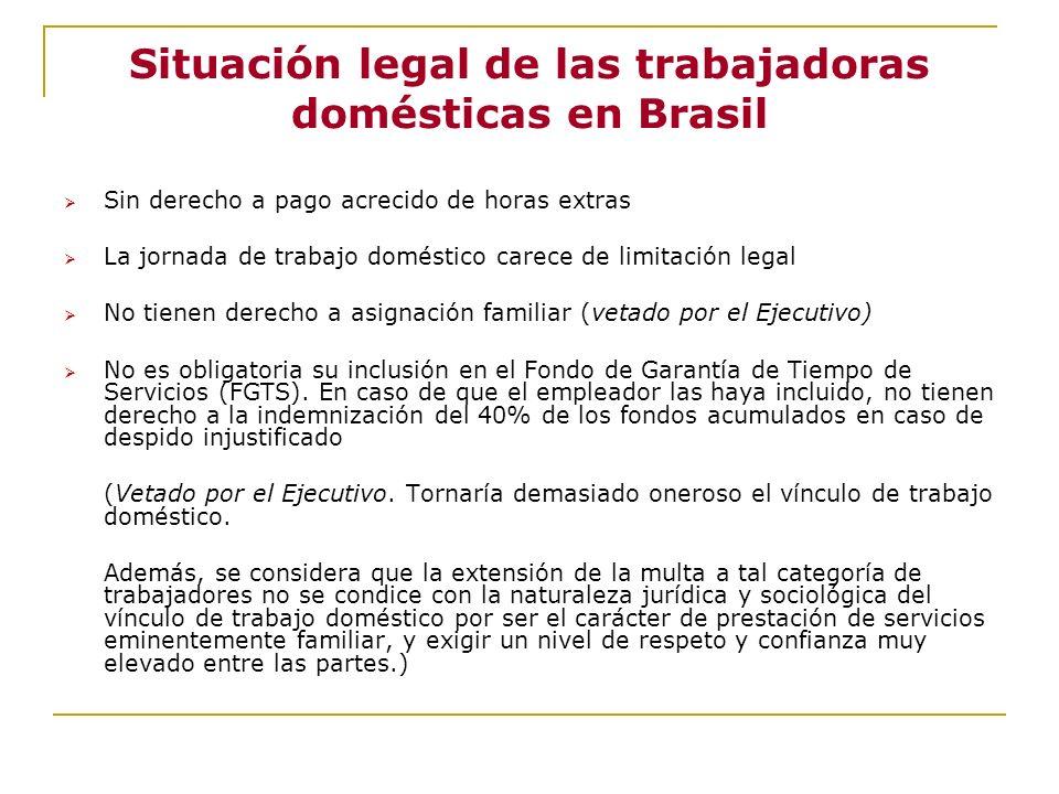 Situación legal de las trabajadoras domésticas en Brasil
