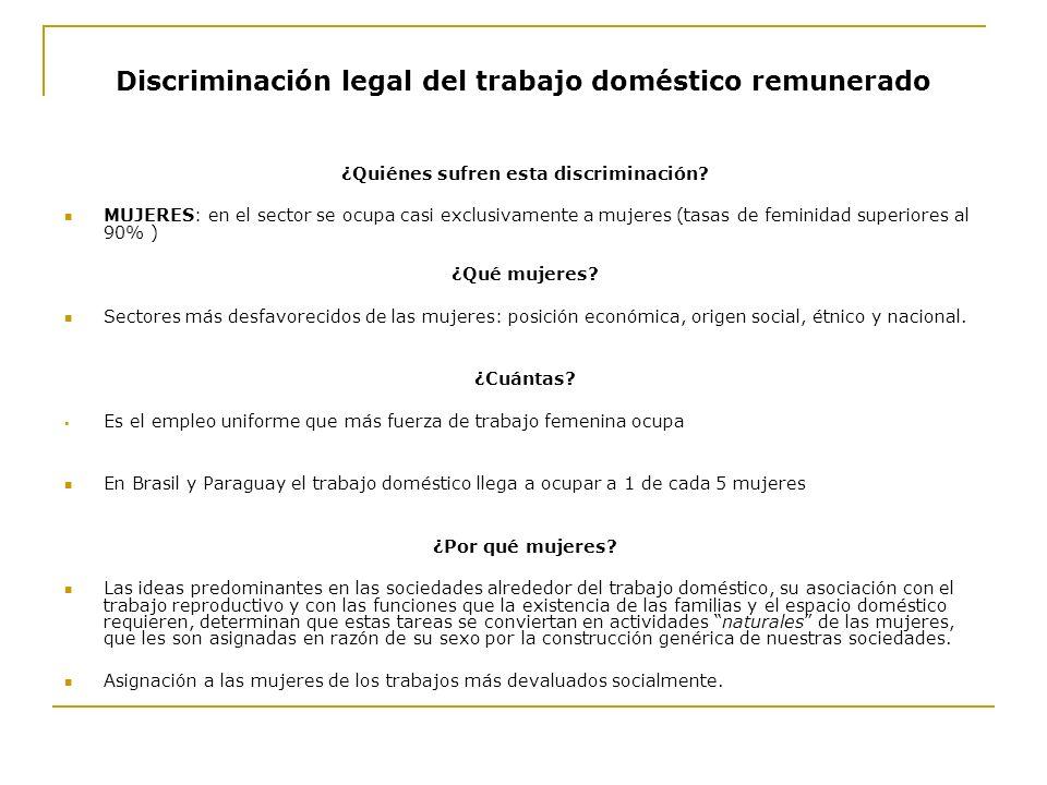 Discriminación legal del trabajo doméstico remunerado