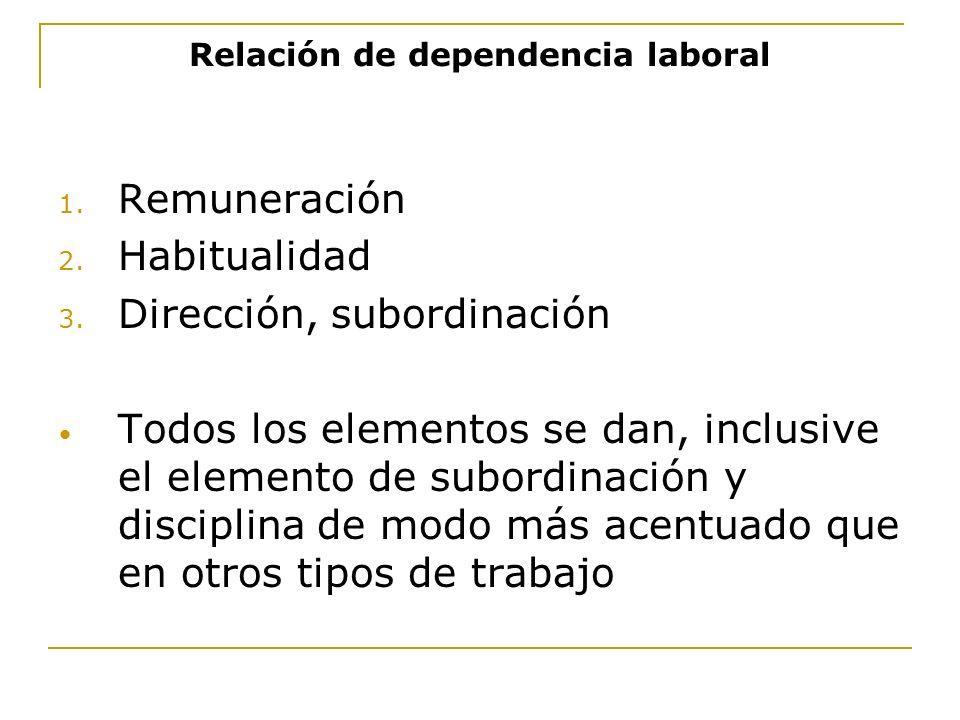 Relación de dependencia laboral