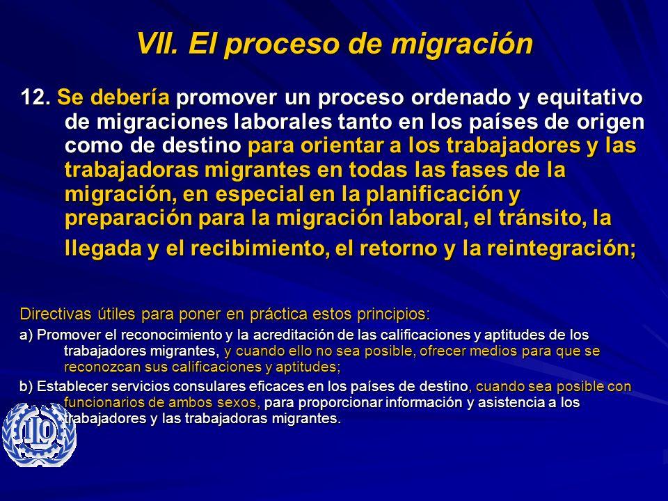VII. El proceso de migración