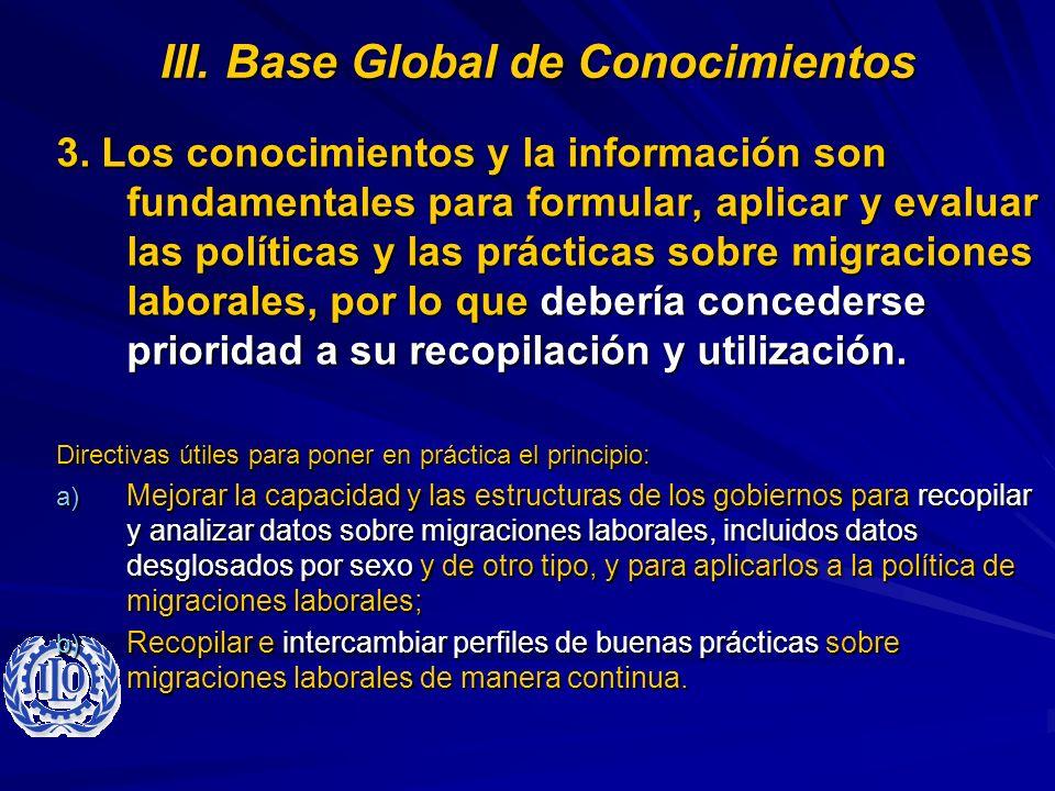 III. Base Global de Conocimientos
