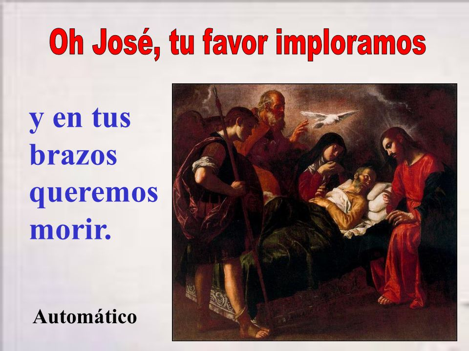 Oh José, tu favor imploramos
