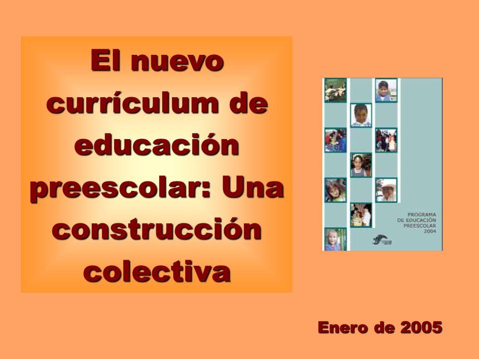 El Nuevo Currículum De Educación Preescolar Una Construcción Colectiva Enero De 2005
