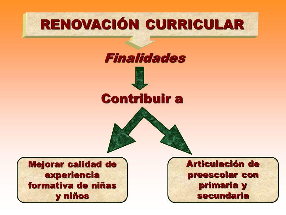 RENOVACIÓN CURRICULAR