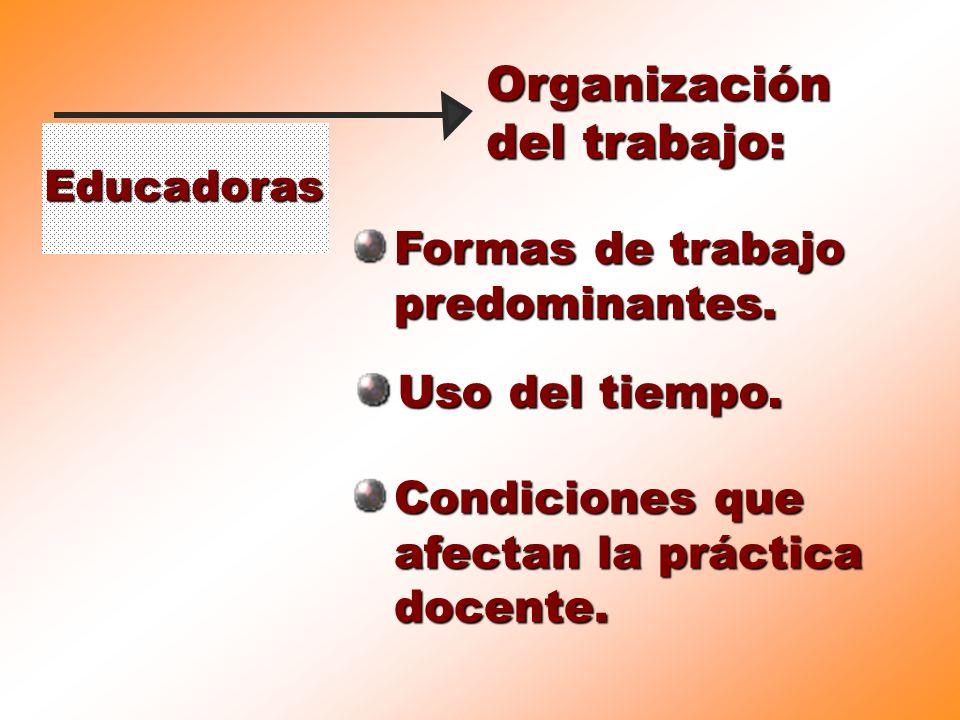 Organización del trabajo: