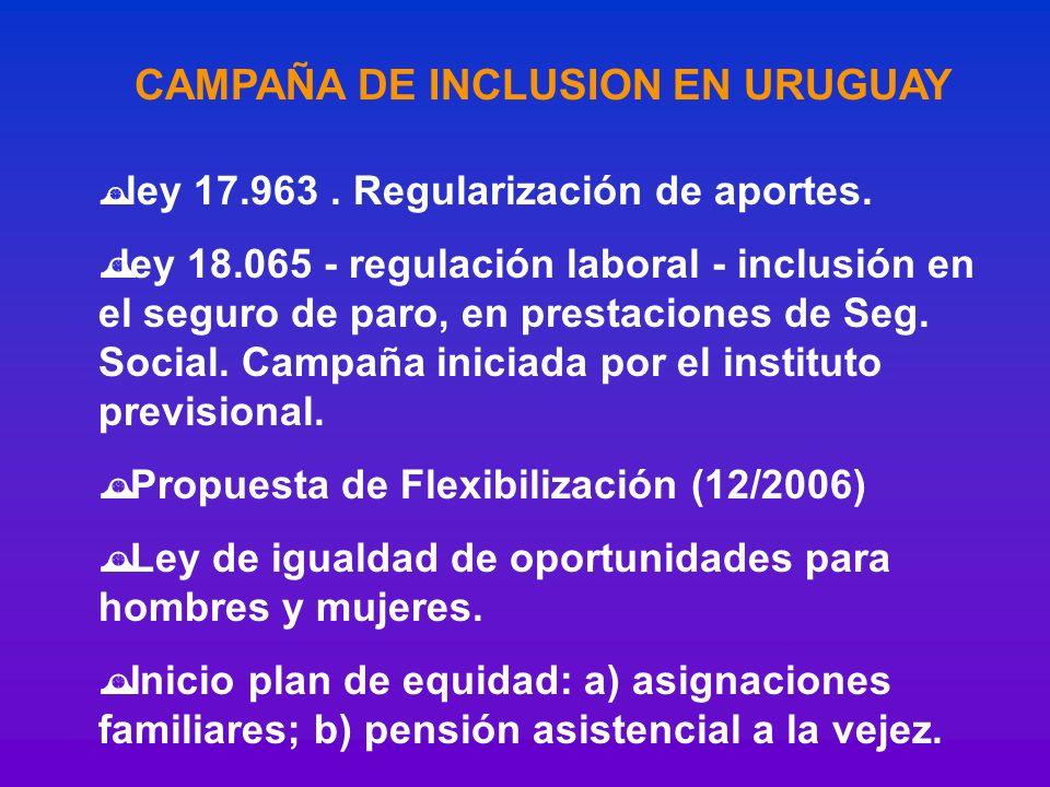 CAMPAÑA DE INCLUSION EN URUGUAY
