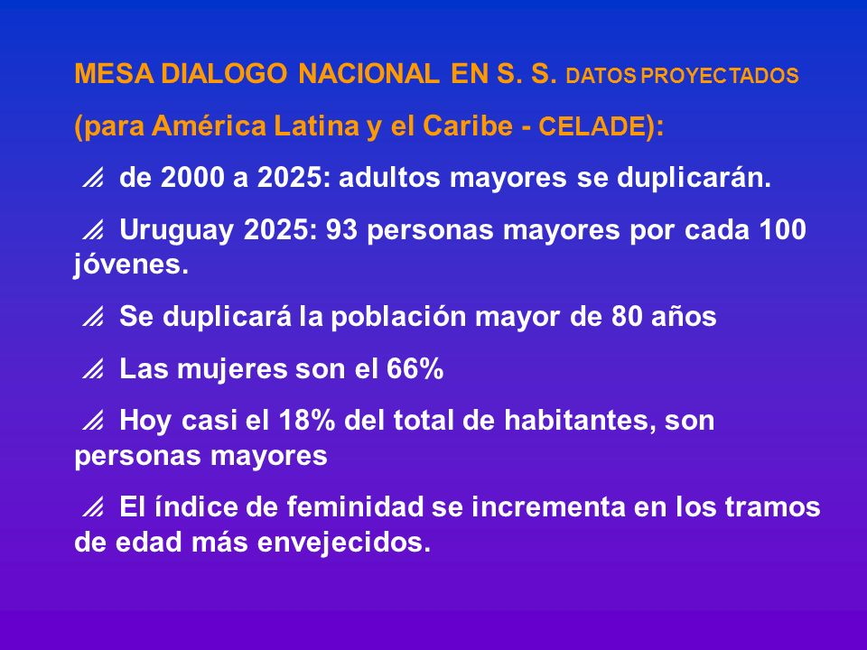 (para América Latina y el Caribe - CELADE):