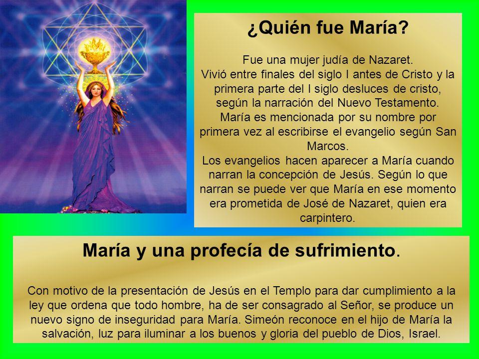 María y una profecía de sufrimiento.