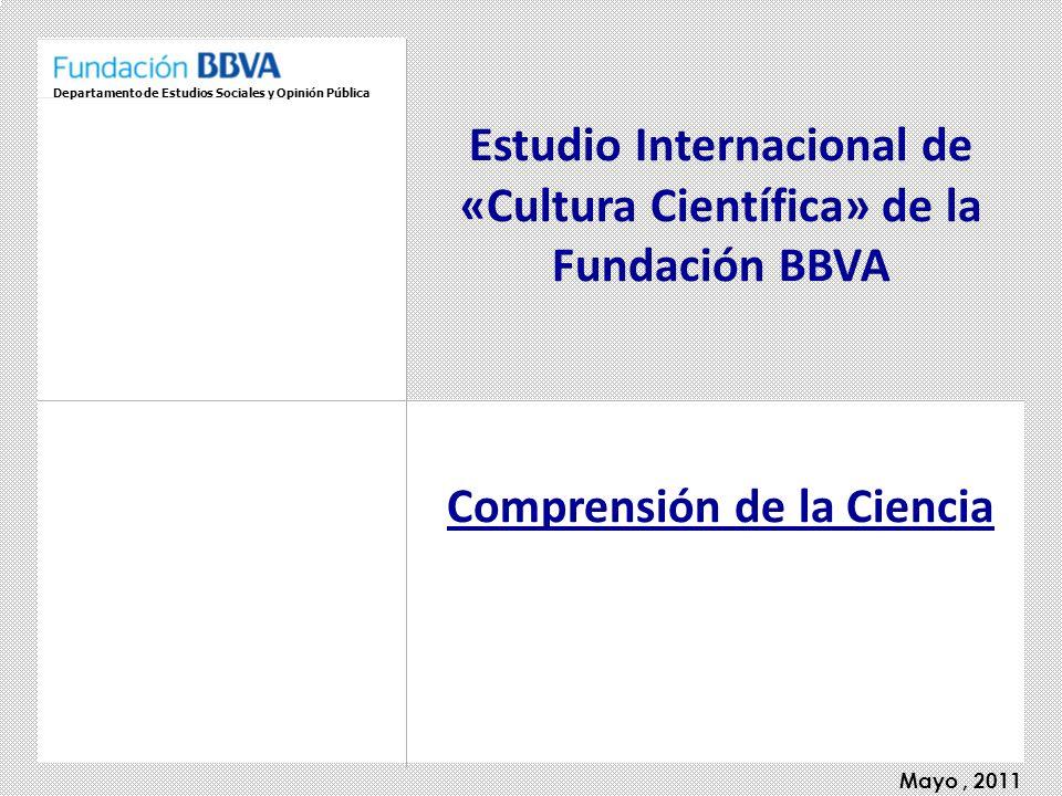 Estudio Internacional de «Cultura Científica» de la Fundación BBVA