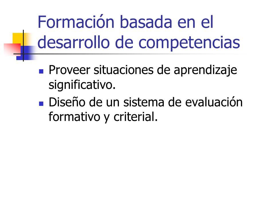 Formación basada en el desarrollo de competencias