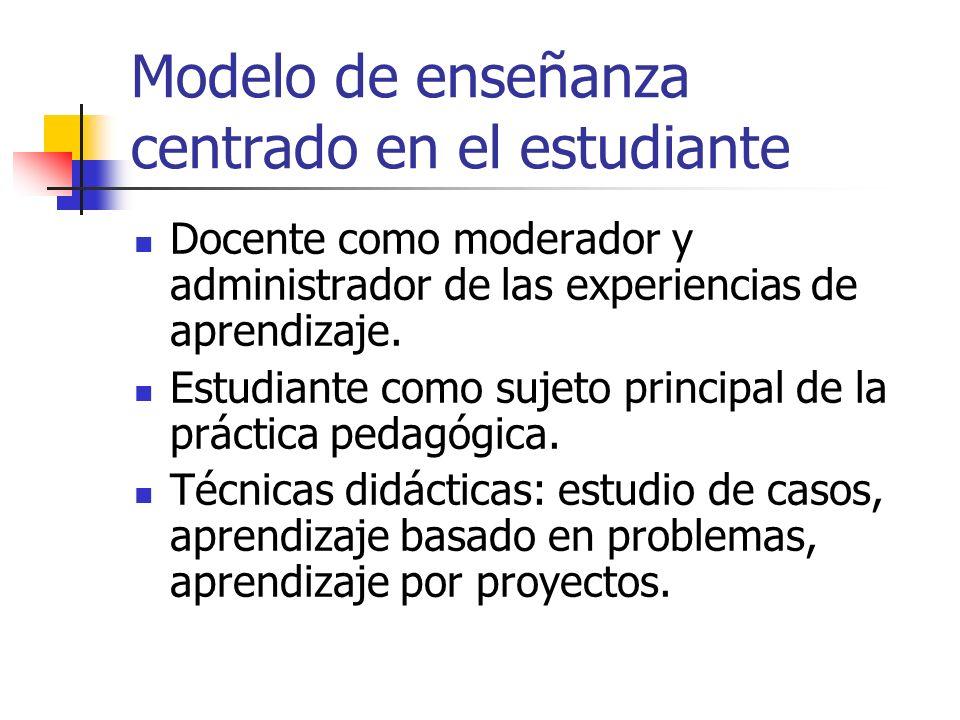 Modelo de enseñanza centrado en el estudiante